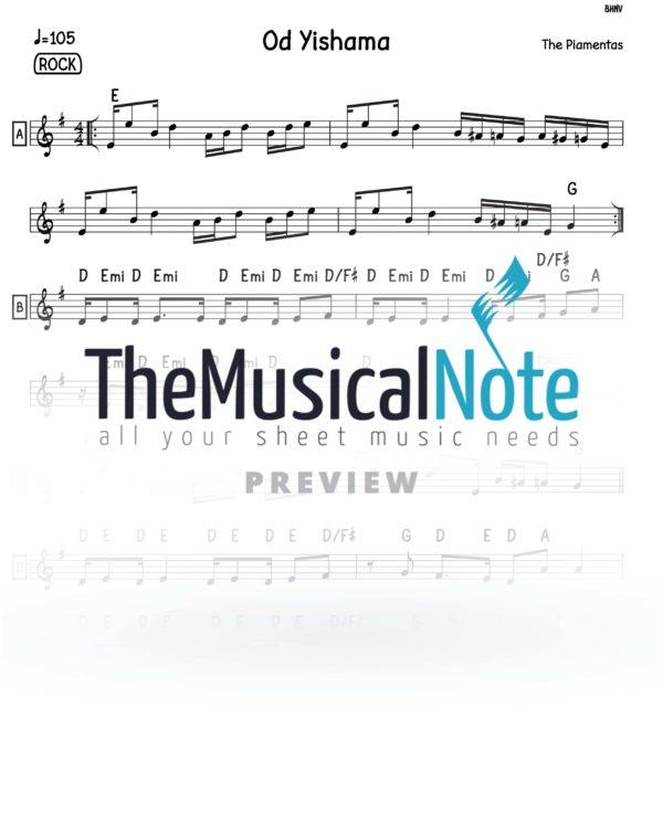 Od-Yishama-Piamenta music sheets themusicalnote.com