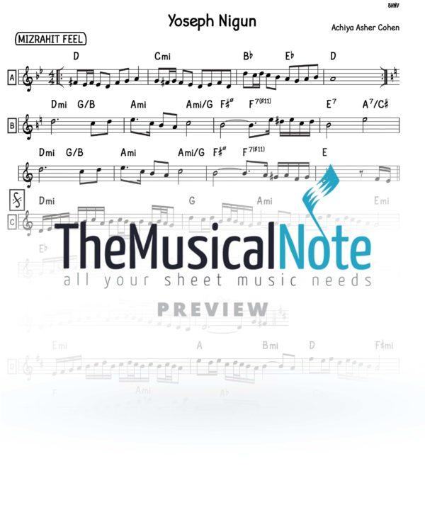 Yoseph Nigun music sheets themusicalnote.com