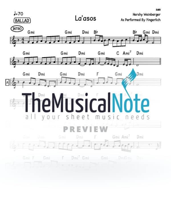Laasos Yingerlich Music Sheet