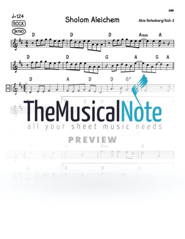 Sholom Aleichem Music Sheet