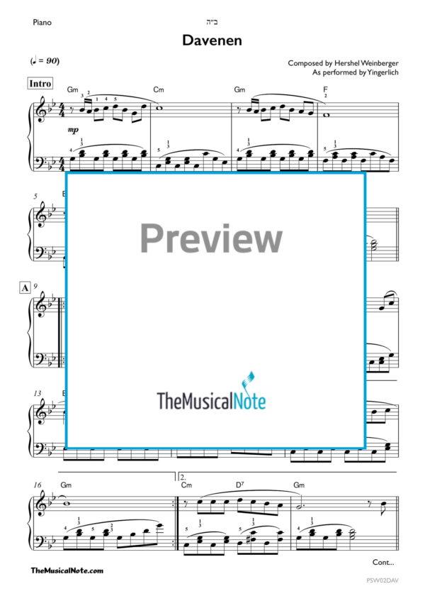 Daveven - Yingerlich - Piano