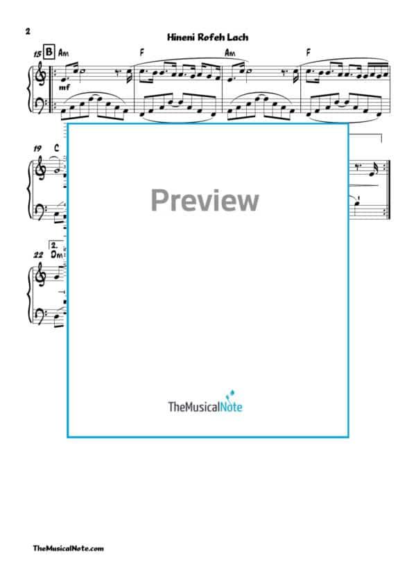 Hineni Rofeh Lach - MBD - Piano