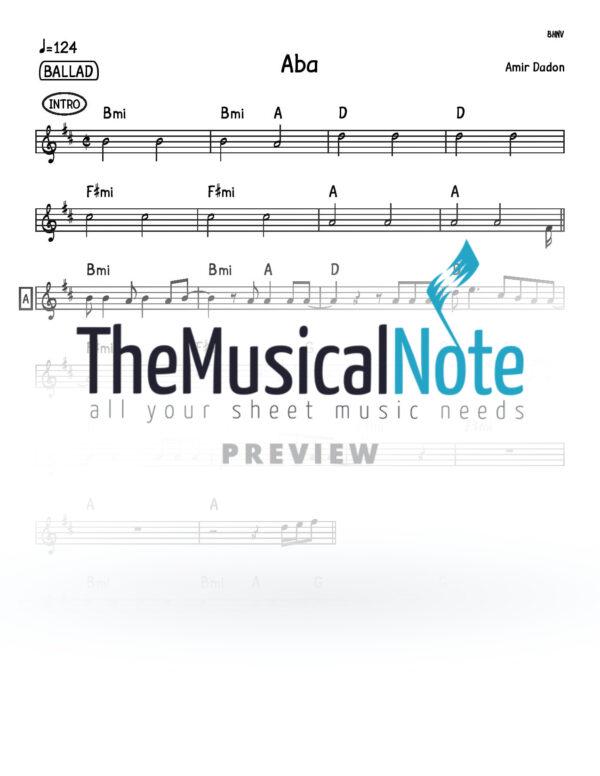 Aba Amir Dadon Music Sheet