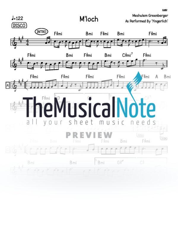 Mloch Yingerlich Music Sheet