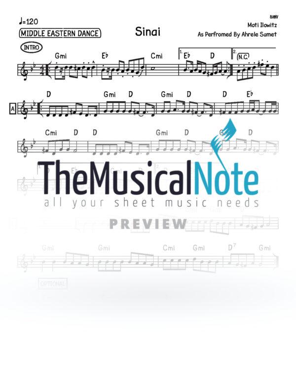 Sinai Ahrele Samet Music Sheet