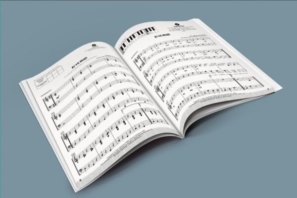 Simon Jewish Music open book with music