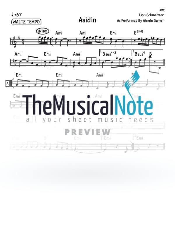 Asidin Ahrele Samet Music Sheet