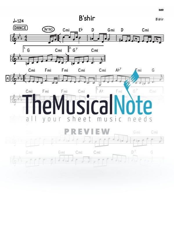 Bshir MBD Music Sheet