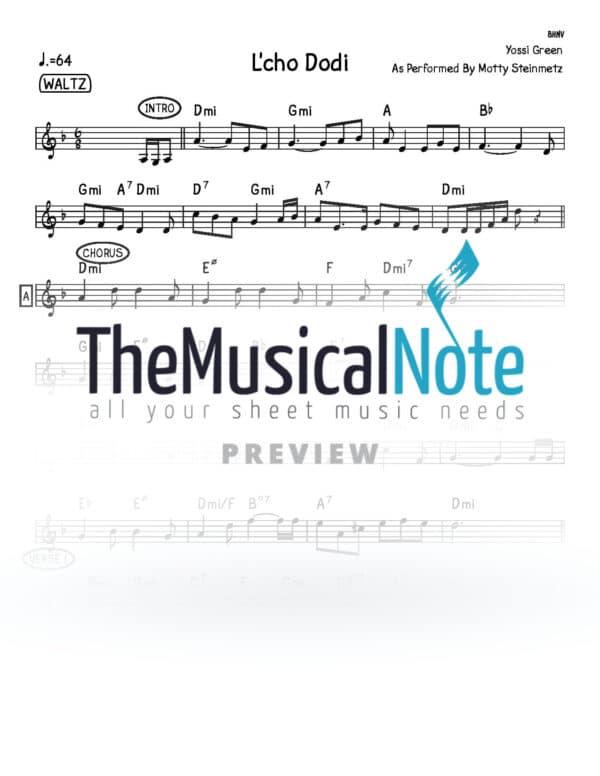Lcho Dodi Motty Steinmetz Music Sheet