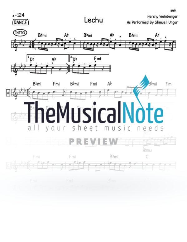 Lechu Shmueli Ungar Music Sheet