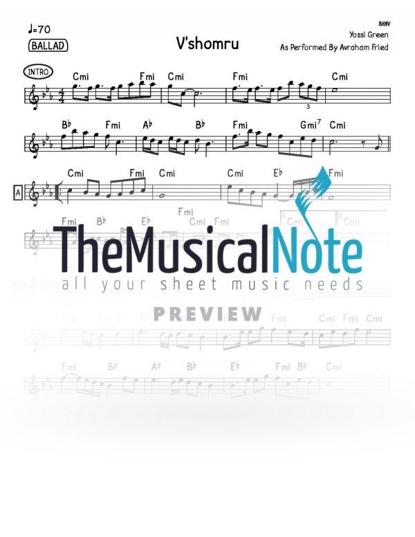 Vshomru Avraham Fried Music Sheet
