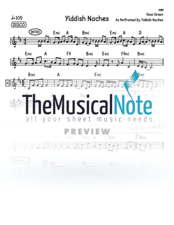 Yiddish Nachas Yiddish Nachas Music Sheet