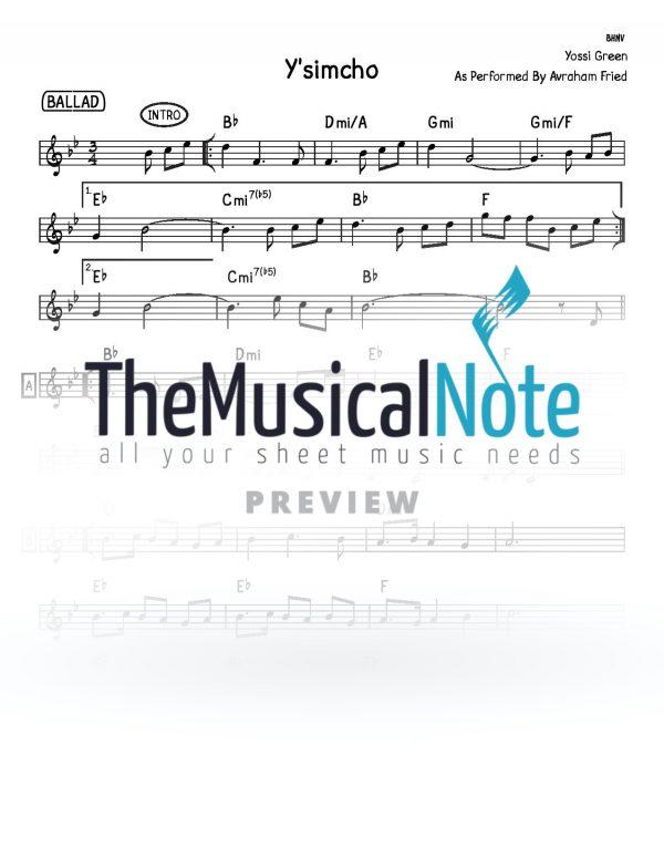 Ysimcho-Avraham-Fried-Music-Sheet