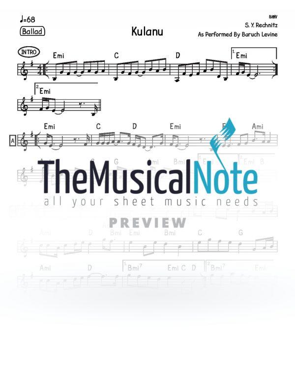 09 - Kulanu Shlomo Yehuda Rechnitz Music Sheet