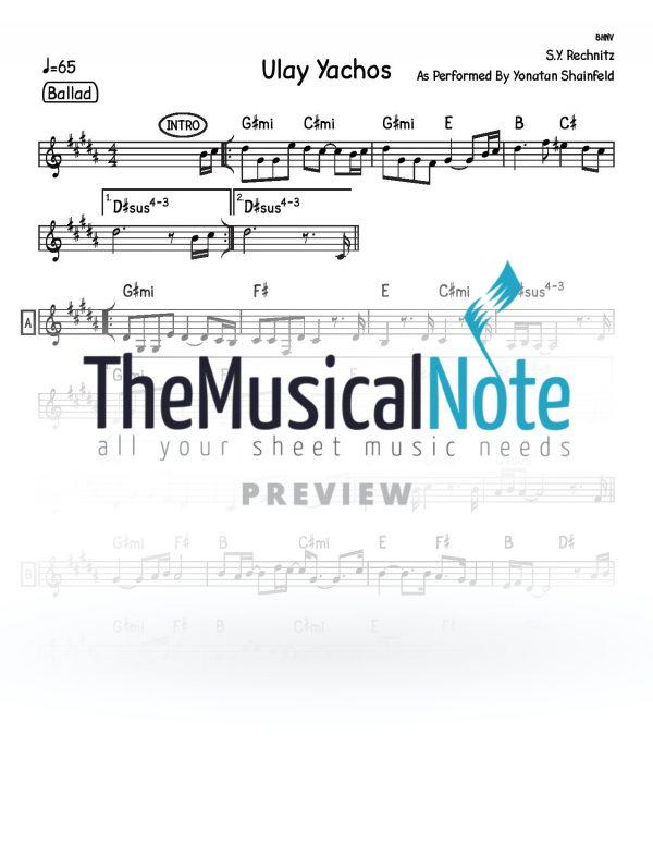 12 - Ulay Yachos Shlomo Yehuda Rechnitz Music Sheet