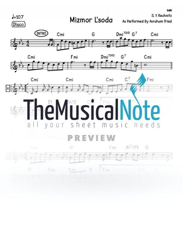 13 - Mizmor Lsoda Shlomo Yehuda Rechnitz Music Sheet