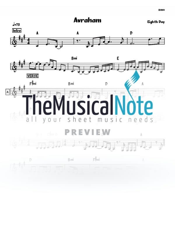 Avraham 8th Day Music Sheet